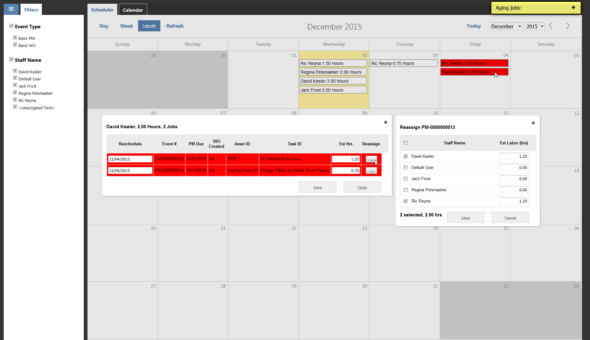 Interactive scheduler