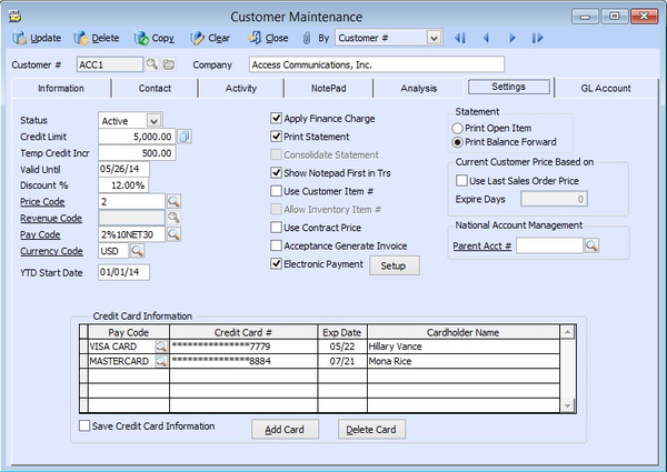 AccountMate for SQL - Accounts Receivable