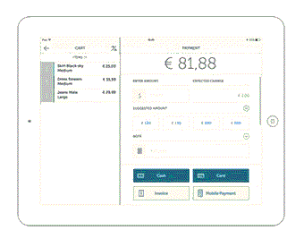 Payment screen