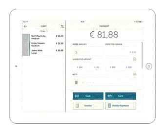 CashOrCardPOS - Payment screen