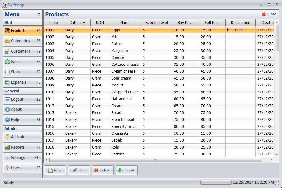 Swiftshop - Product screen