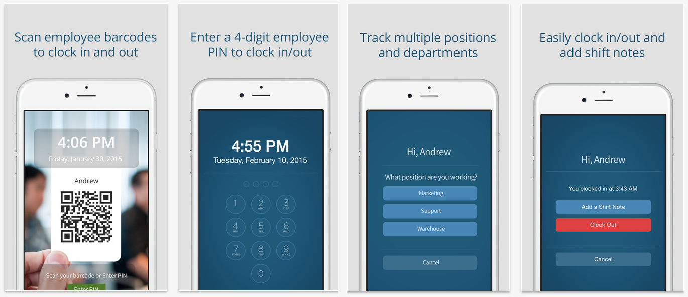 Time clock for mobile