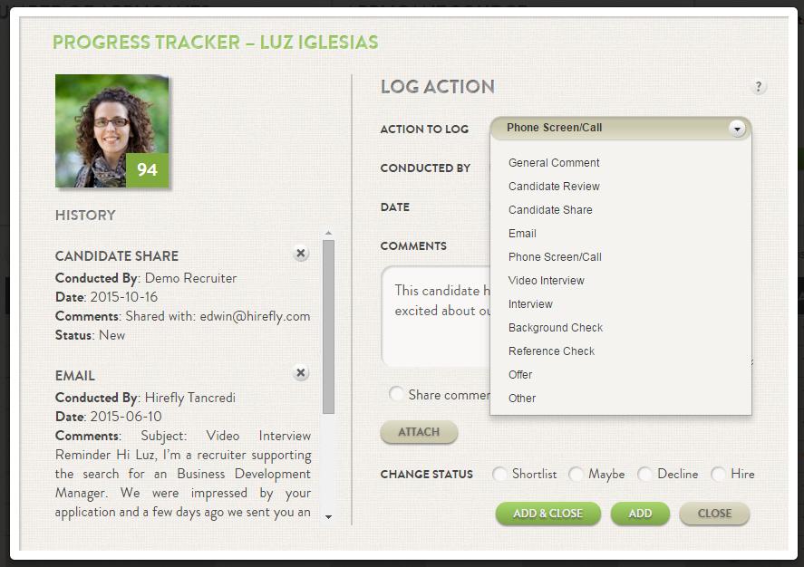 Progress tracker