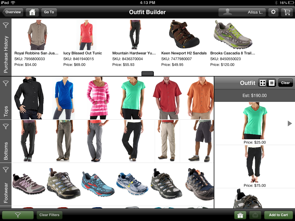 Starmount Customer Engagement Suite - Outfit builder