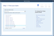 QuickBooks Desktop Pro - Choose bank