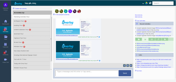 User activity