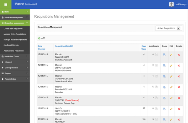 Requisitions management