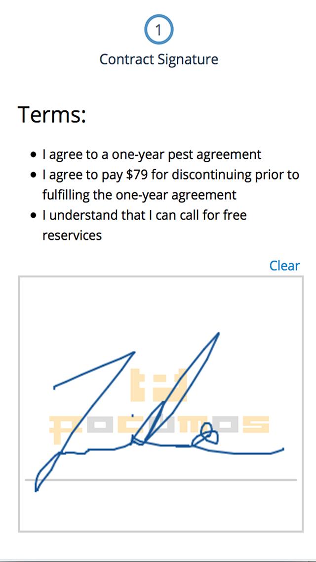 Signature screen