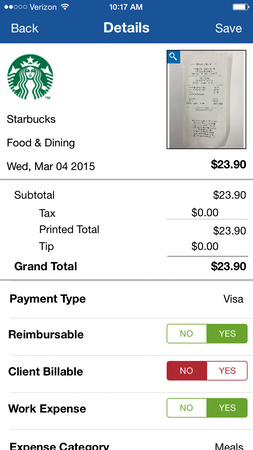 Expense details