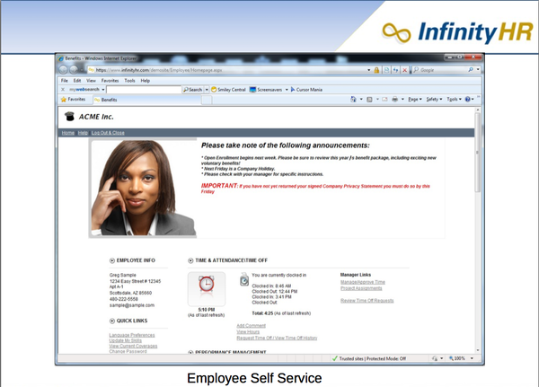 InfinityHR Software - 2019 Reviews, Free Demo & Pricing