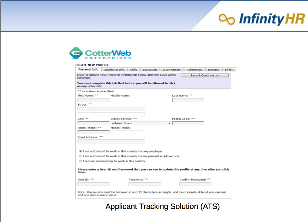 Application Tracking Solution