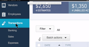 QuickBooks Online payroll transaction