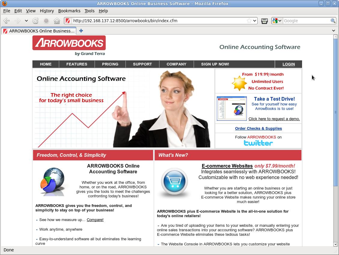 ArrowBooks Website