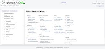 Administrative menu