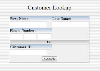 Customer Search