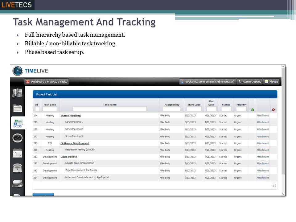 Task management & tracking
