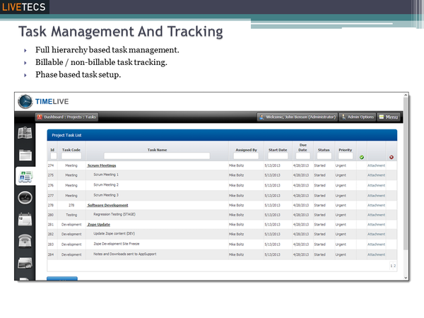Task management & tracking