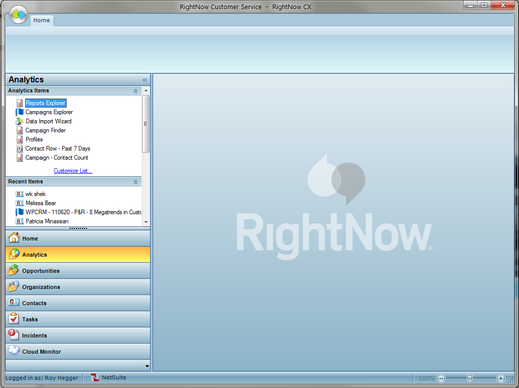 RightNow Application