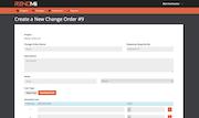 Change order creation