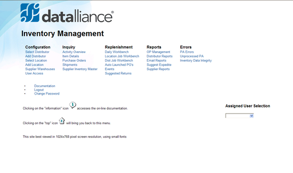 Datalliance VMI - Homepage