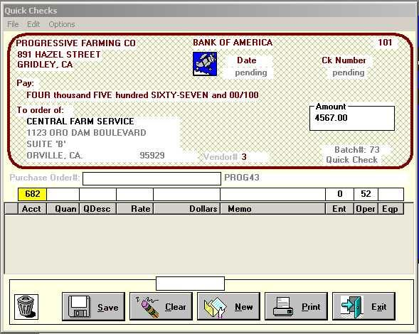 Enter General Ledger Check with Costing
