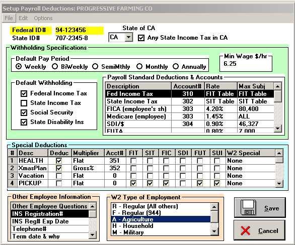 Set Up Employer Info