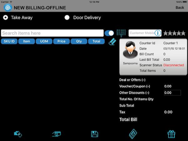 Offline billing