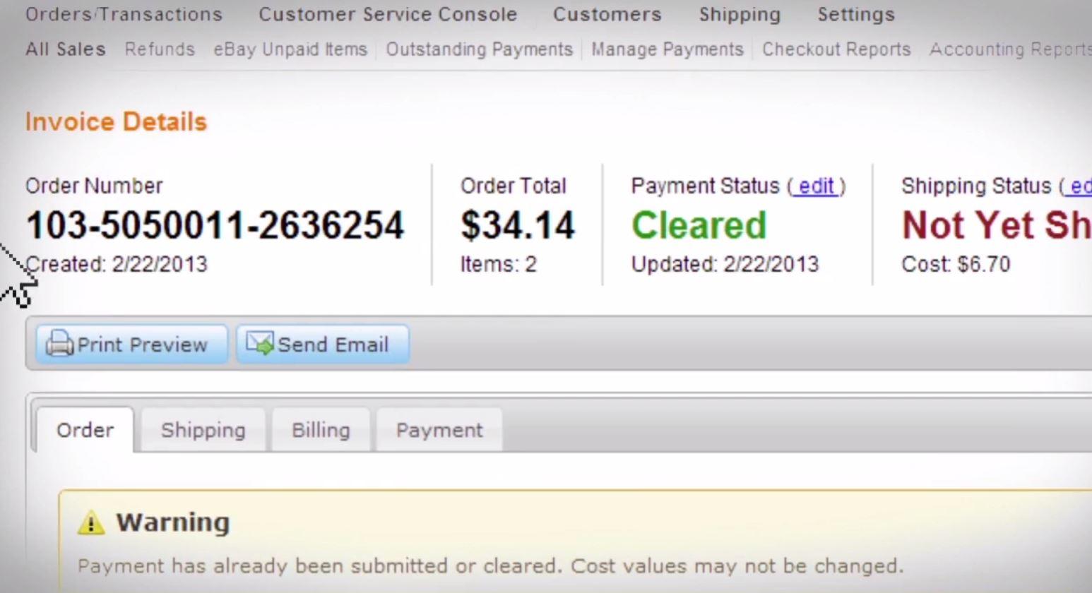 ChannelAdvisor - Order management