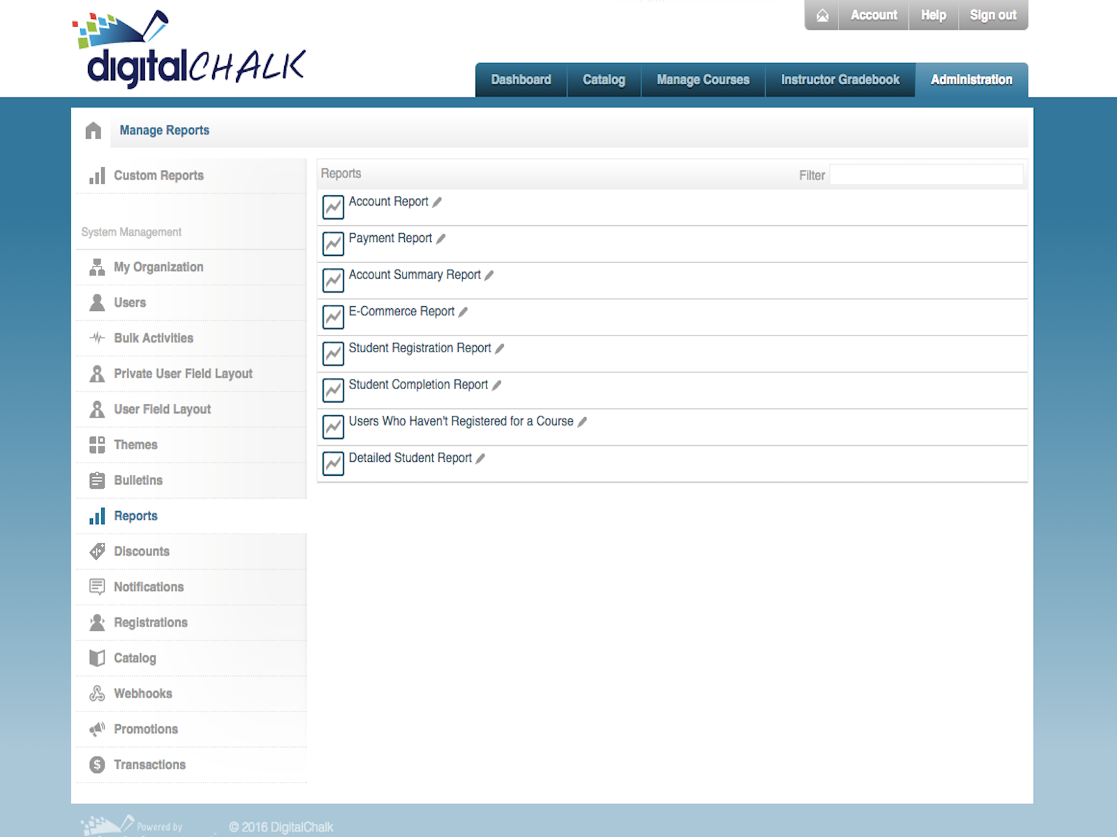 DigitalChalk - Admin