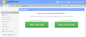 LiveChat setup