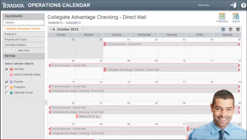 Operations calendar