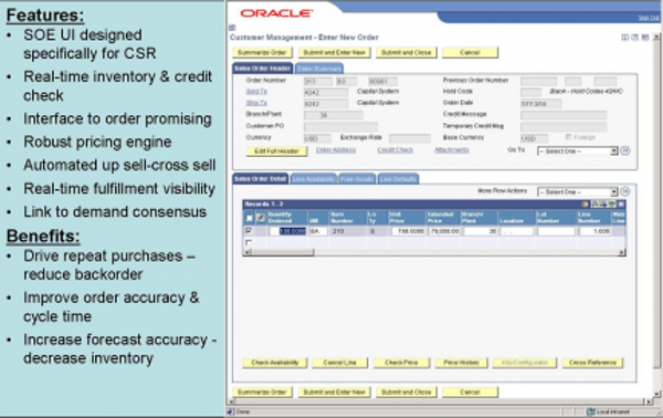 Sales Order Screen