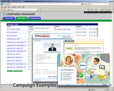 Campaign Manager Interface with Campaign Samples