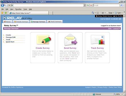 Survey Utility Interface; eGreetings, LandingPages
