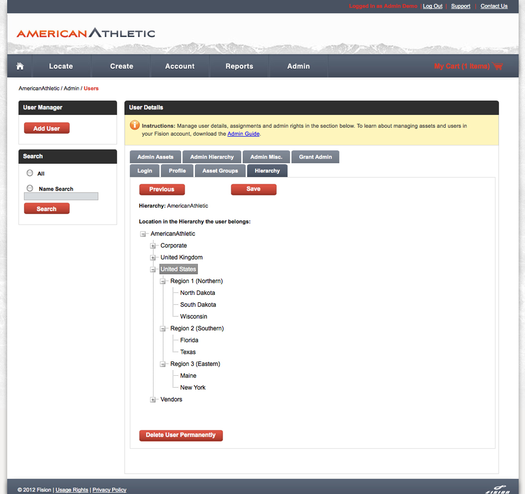 User-Based Permissions Control Asset Usage