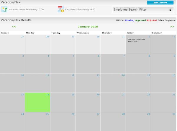 Employee calendar