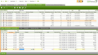 Invoicing and payments view
