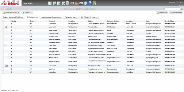 User interface for incident management