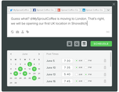 SproutSocial social media scheduling