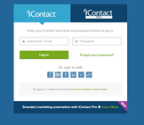iContact - Login page
