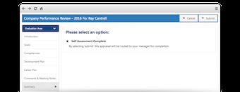 Appraisal screen