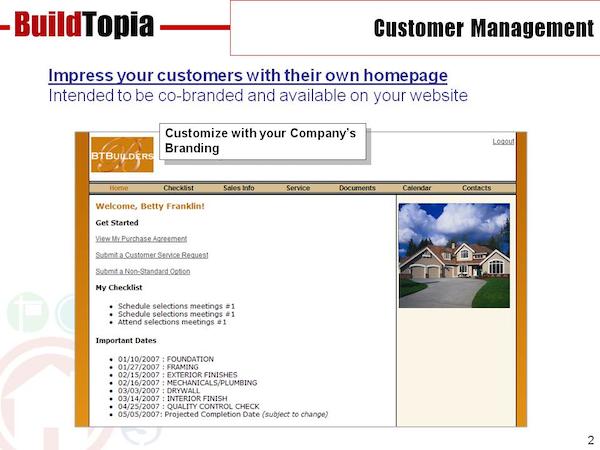 BuildTopia home buyer homepage