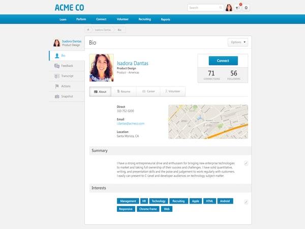 Create employee bio