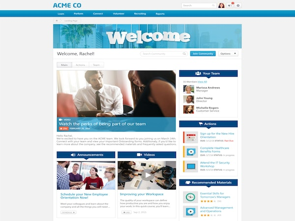 Cornerstone OnDemand - Employee homepage