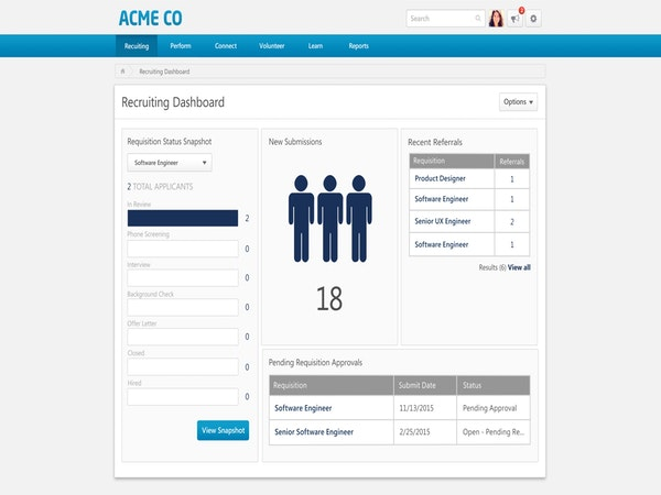 Recruiting dashboard