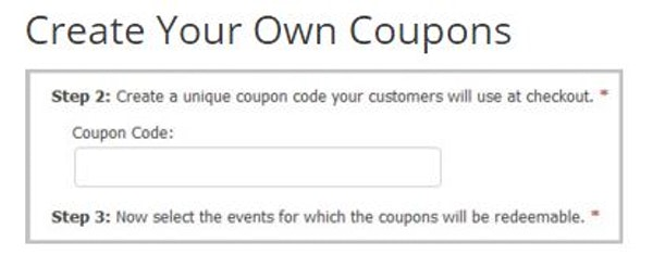 ThunderTix coupon creation