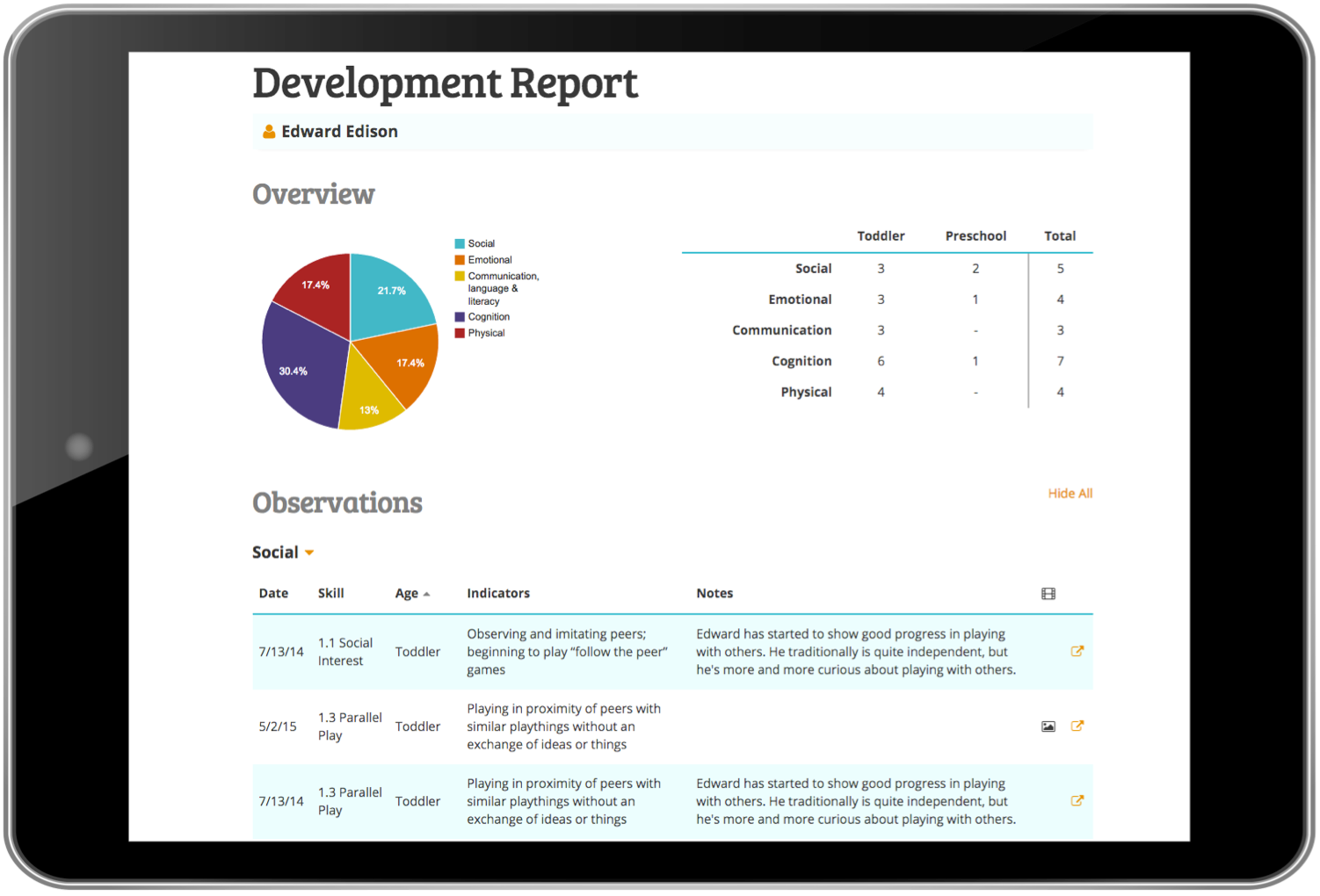Customizable reports