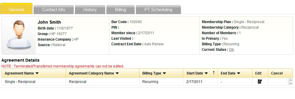 Member billing
