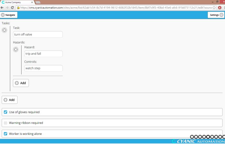 Add and delete tasks