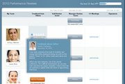 SAP SuccessFactors - Team view with feedback